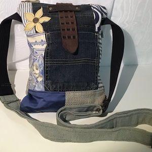 Handmade cross body bag